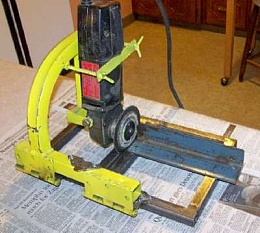 Cutoff Saw from Angle Head Grinder