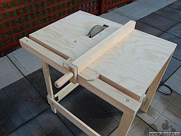 Excellent Homemade Utility Table Saw Homemadetools Net Interior Design Ideas Inesswwsoteloinfo