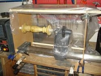 Wood Lathe Spray Booth