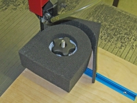 Tire Foam Cutting Fixture