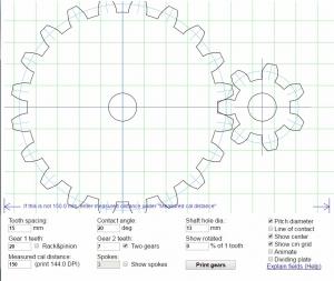 Homemade tools forum gear template generator by matthias wandel maxwellsz