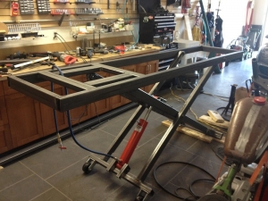Homemade motorcycle lift table for Shop hoist plans