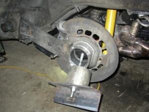 homemade wheel bearing puller. homemade wheel bearing remover puller w