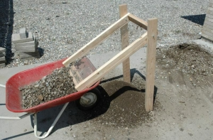 Homemade Reverse Dirt Sifter