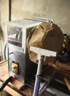 Wood Lathe from Rubbish