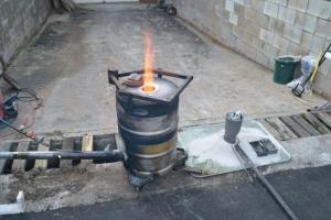 Homemade Waste Oil Furnace