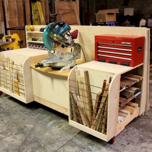 Miter Station and Lumber Rack