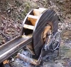 how to make a water wheel generator