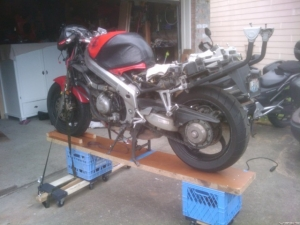 Mobile Motorcycle Workstand