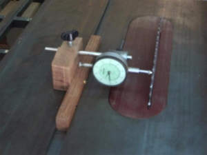 Table Saw Dial Indicator Fixture