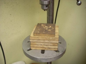 Configurable Wood Stack for a Drill Press