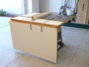 Astounding Homemade Folding Outfeed Table Homemadetools Net Home Interior And Landscaping Oversignezvosmurscom