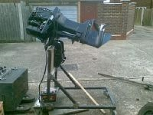 Homemade outboard engine test stand for Large outboard motor stand