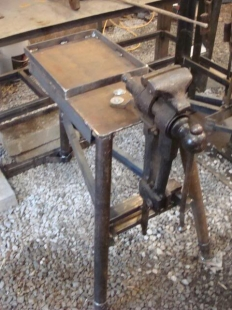 Homemade Post Vise Stand Homemadetools Net