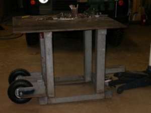 Wheeled Welding Table