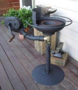 Portable Forge with Blower