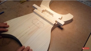 Homemade Guitar Pickup Routing Template - HomemadeTools.net