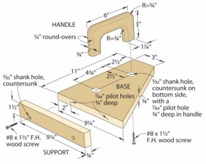Router Table Push Pad