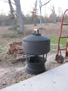 Fire Pit-Style Heater
