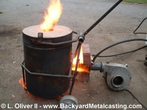 Homemade Miniature Waste Oil Burner