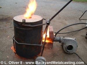 Homemade Miniature Waste Oil Burner