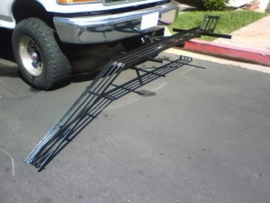Homemade Motorcycle Carrier and Ramp