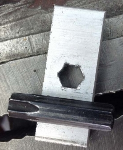 Hexagonal Hole Drilling