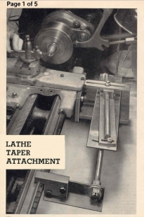 Lathe Taper Attachment