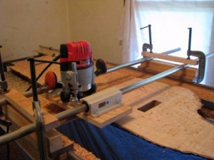 Homemade Router Planing Jig