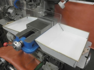 Anchored Chip Trays for Mill Vise