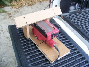Belt Sander Sharpening Rest