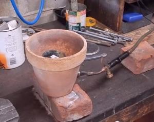 Homemade Aluminum Melting Furnace