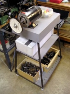 Surface Plate & Stock Storage Cart