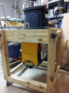 Mobile Woodworking Stand