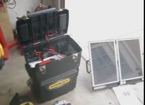 Solar-Powered Auxiliary Power System