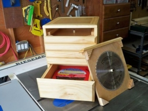 Table Saw Blade Cabinet