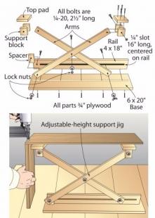 Homemade Scissor Lift Support Homemadetools Net