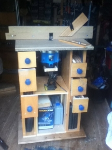 Homemade Router Table With Scissor Jack Lift