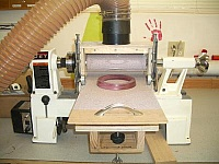 Lathe-Powered Drum Sander