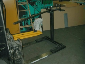 Forklift-Anchored Bender Stand