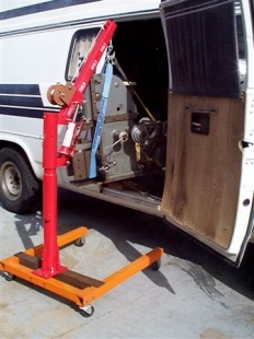 Pickup Hoist on Dolly