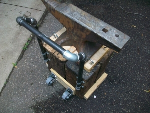 Mobile Anvil Base