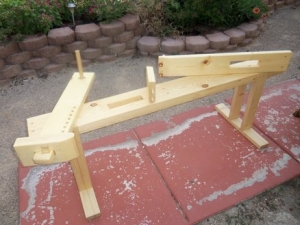 Shaving Horse and Workbench