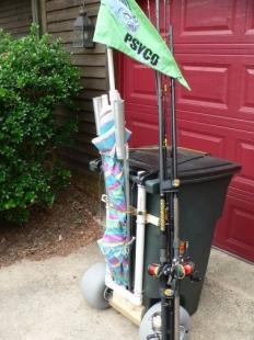 Homemade pier cart for Homemade fishing cart