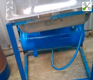 Homemade Pressurized Parts Washer
