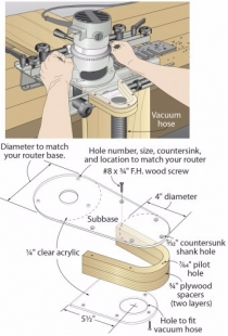 Router Dust Collection Attachment