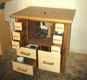 Wooden Router Station