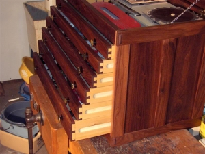 Walnut Machinist's Chest