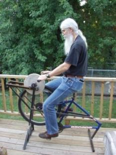Astonishing Homemade Pedal Grinder Homemadetools Net Machost Co Dining Chair Design Ideas Machostcouk