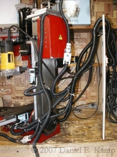 homemade milling machine wiring protector